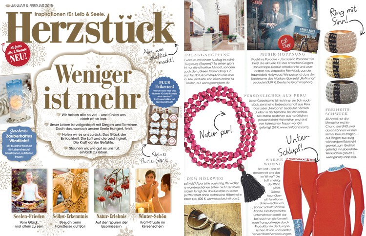 Gilardy Human Rights Collection Jewels Schmuck on Herzstueck Magazine