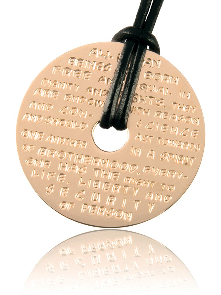 Human Rights Collection Jewelry Jewellery Pendant
